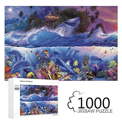 Promini Christian Riese Lassen Jenseits des Riffs Iii 1000 Teile Puzzles aus Holz Tägliche Puzzlespiele für Erwachsene und Kinder