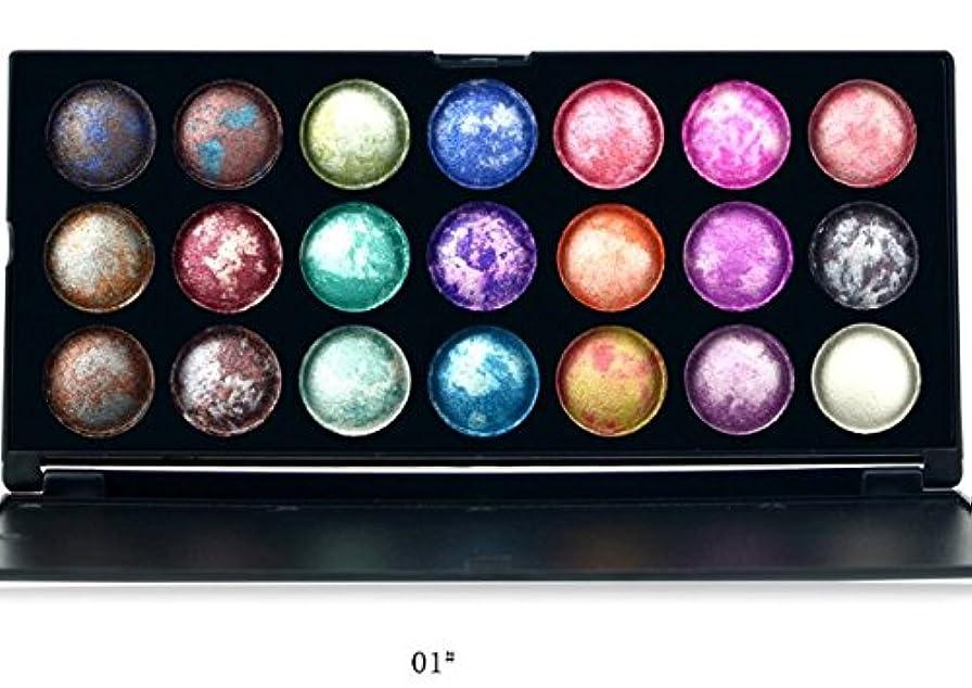 陸軍褒賞対立MakeupAcc 焼きアイシャドウ 21色 カラフル 乾式と湿式 (01) [並行輸入品]