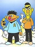 Sesamstrasse Sesame Street Poster Ernie & BERT Captain Kirk