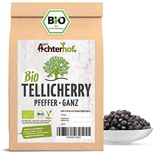 Tellicherry Pfeffer Bio (500g) ganz schwarz vom Achterhof (1. Sorte TGSEB) Auslese Pfefferkörner aus Indien