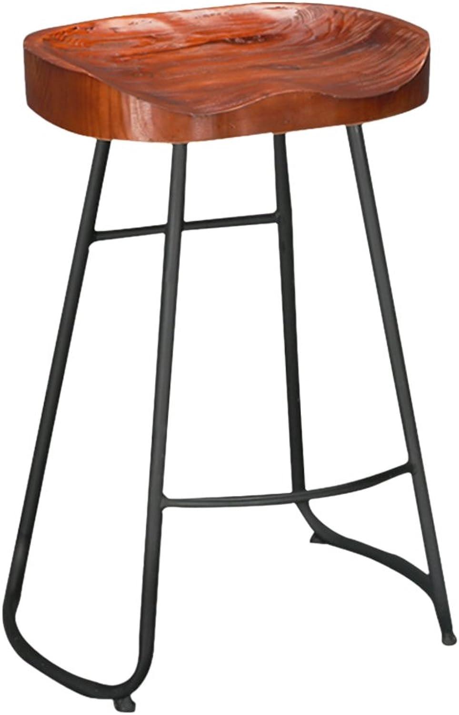 C-J-Xin Solid Wood Bar Chair, Household High Stool Cafe Bar Decorative Stool 45  45  78cm Novel Style (Size   45  45  78cm)