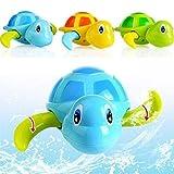 DUOCACL Juguetes de baño: Juguetes flotantes de baño de Tortuga para Nadar, Juguetes flotantes para niños, bañera de Cuerda, Juguete para Piscina