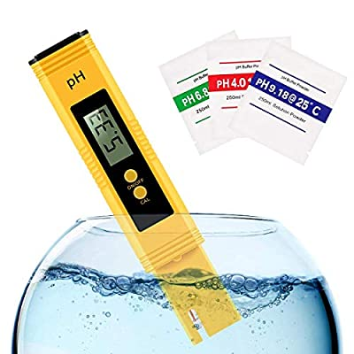Digital PH Meter, PH Meter 0.01 PH High Accuracy Water Quality Tester with 0-14 PH Measurement Range for Household Drinking Water,Aquarium,Swimming Pools