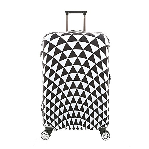 7-Mi 3D Suitcase Cover Triangular Design Travel Luggage Protector Elastic Sleeve Cover 29'-30' Anti-Scratch Luggage Cover Size XL