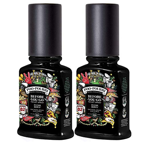 PooPourri Before You Go Toilet Spray Flush Down 2 Ounce 2 Pack