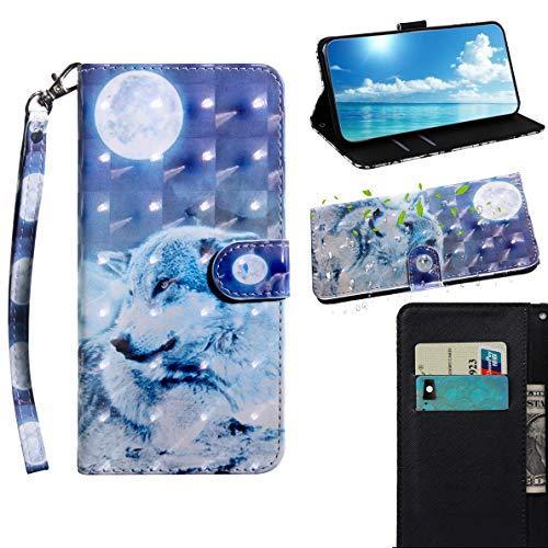 SHUYIT Samsung Galaxy S9 Funda, Alta Calidad Pintado PU Cuero Billetera Carcasa Flip Case Cover para Samsung Galaxy S9 Caso con Cierre Magnético Tarjetero y Función de Suporte