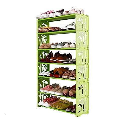 LJHA Étagère à chaussures simple rack à chaussures antipoussière Chaussure multicouche armoire simple moderne économie de ménage chaussures étagère dortoir pantoufles petite chaussure armoire Meubles