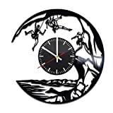 Rock Climbing Vinyl Record Wall Clock, Climbing Rocks Sport Climber Art Handmade Gift Idea for Any Occasion, Original Home Room Kitchen Decor, Vintage Modern Style Theme Vinyl Decals