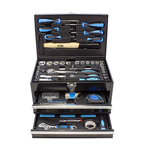 Karcher Werkzeugkasten – 117-teiliges Werkzeugset aus Chrom Vanadium & Karbonstahl mit Hammer, Schraubendreher, Steckschlüssel, Bitsatz uvm. - 2