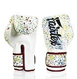 Fairtex Genuine Micro Fiber Splash Design Boxing Gloves Painter RED Piping (16oz)
