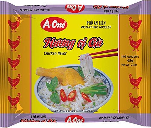 A-ONE Fideos Instantáneos, Sabor Pollo 65 g