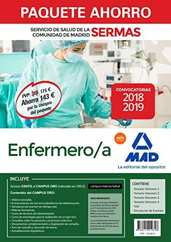 Paquete Ahorro Enfermero/a Servicio de Salud de la Comunidad de Madrid.Ahorro de 143 € (incluye Temarios 1, 2, 3 y 4; Test; Simulacros de Examen y acceso a Campus Oro)