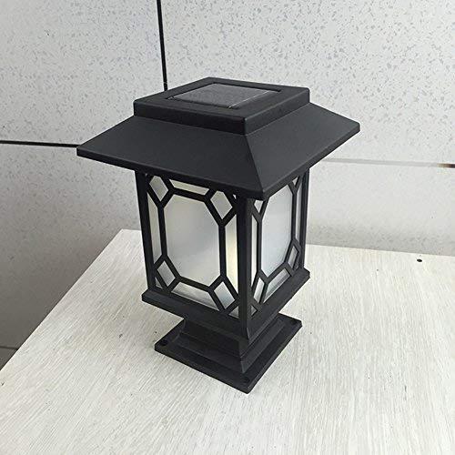 Luz solar LED decorativa e impermeable. Para columna, poste, camino, jardín, terraza/porche, patio, etc.