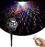 SMITHROAD LED Projektionslampe RGB Bunte Punkte Fernbedienung Projektor Lampe für...