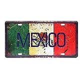 Mexico Placa de Metal Vintage Placa de estaño Cartel Arte decoración de la Pared cartelera Bar Club Cafe Estudio Hotel