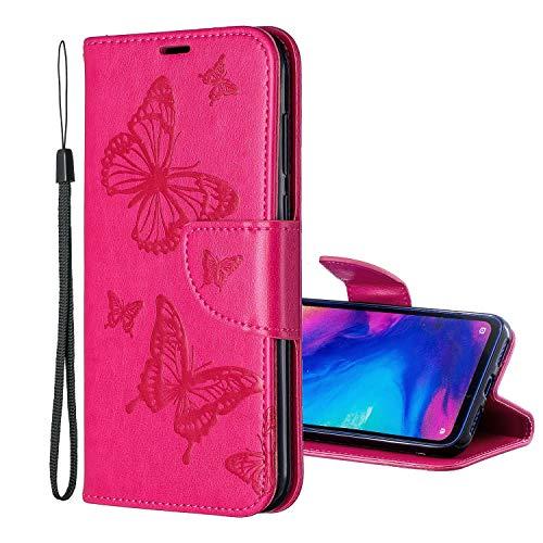 Nadoli Flip Custodia per Huawei P20 Pro,Retrò Custodia in Pu Pelle Chiusura Magnetica Funzione Stand Portafoglio Sbalzato Farfalla Modello Protettivo Case Cover per Huawei P20 Pro