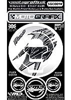 MOTOGRAFIX(モトグラフィックス) FUELCAP KIT GSX1300R隼 ホワイト/グレー MT-SGC001W