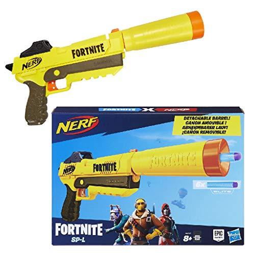 Replica dei blaster spara dardi di Fortnite Canna rimovibile Caricatore a tre dardi interno Include sei dardi Dardi ufficiali Nerf Elite
