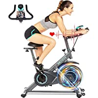 Ancheer Stationary Exercise Bike with HR Monitor & LCD Display