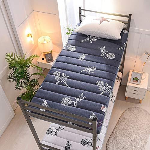 XIGG Sleeping Floor Futon Mattresses, Thicken Fitted Tatami Mattress Padded, Washable Non-Slip Pad, Folding Mattress Double Single Dormitory Mattress