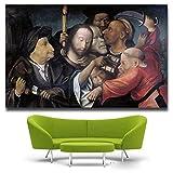 WSWWYKunst Gemälde Der Garten der Erde Komödie Bosch Seidenposter Dekoration (Druck) A 30x45cm No Frame