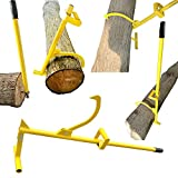 Steel Timberjack 4-in-1 Forestry Multitool – The Back-Saving Log Hauler, Cant Hook, and Timberjack