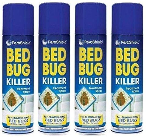 E Trade 4 x Bed Bug Spray Killer Spray Bedbugs Spray Insect Spray Bed Bug Stopper 200ml.