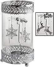 Kovot Holiday Metal Spinning Tea Light Holder (Christmas Theme)