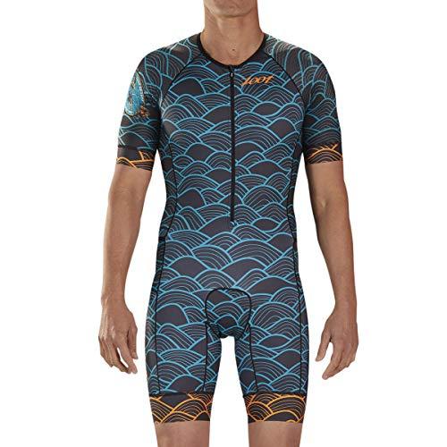 Zoot Herren LTD Aero Kurzarm Tri Racesuit - High Performance Triathlon Racesuit mit Carbonstoff und 3 Taschen, Herren, Aloha '19, Small
