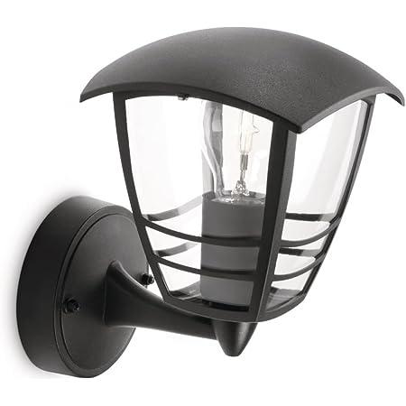 Philips 153803016 Creek Lanterne Murale Aluminium Noir 1 x 60 W