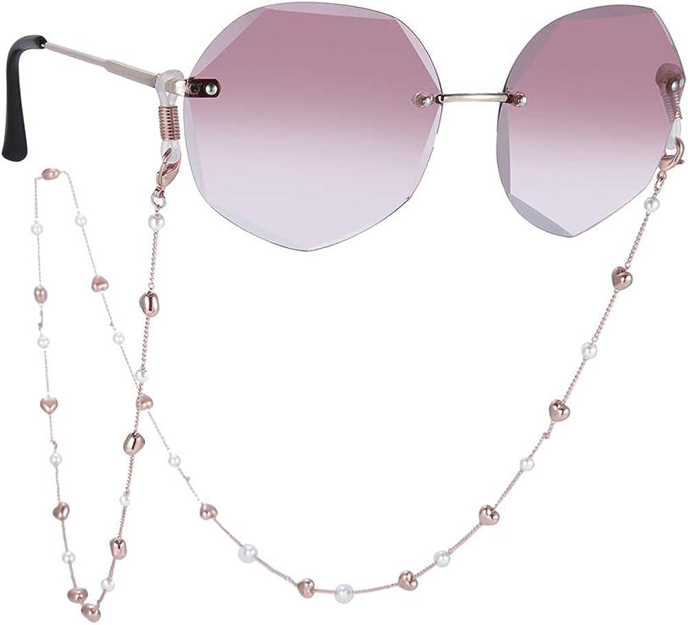 TEAMER Pearl Beaded Eyeglass Chain Sunglass Strap Eyeglass Holde