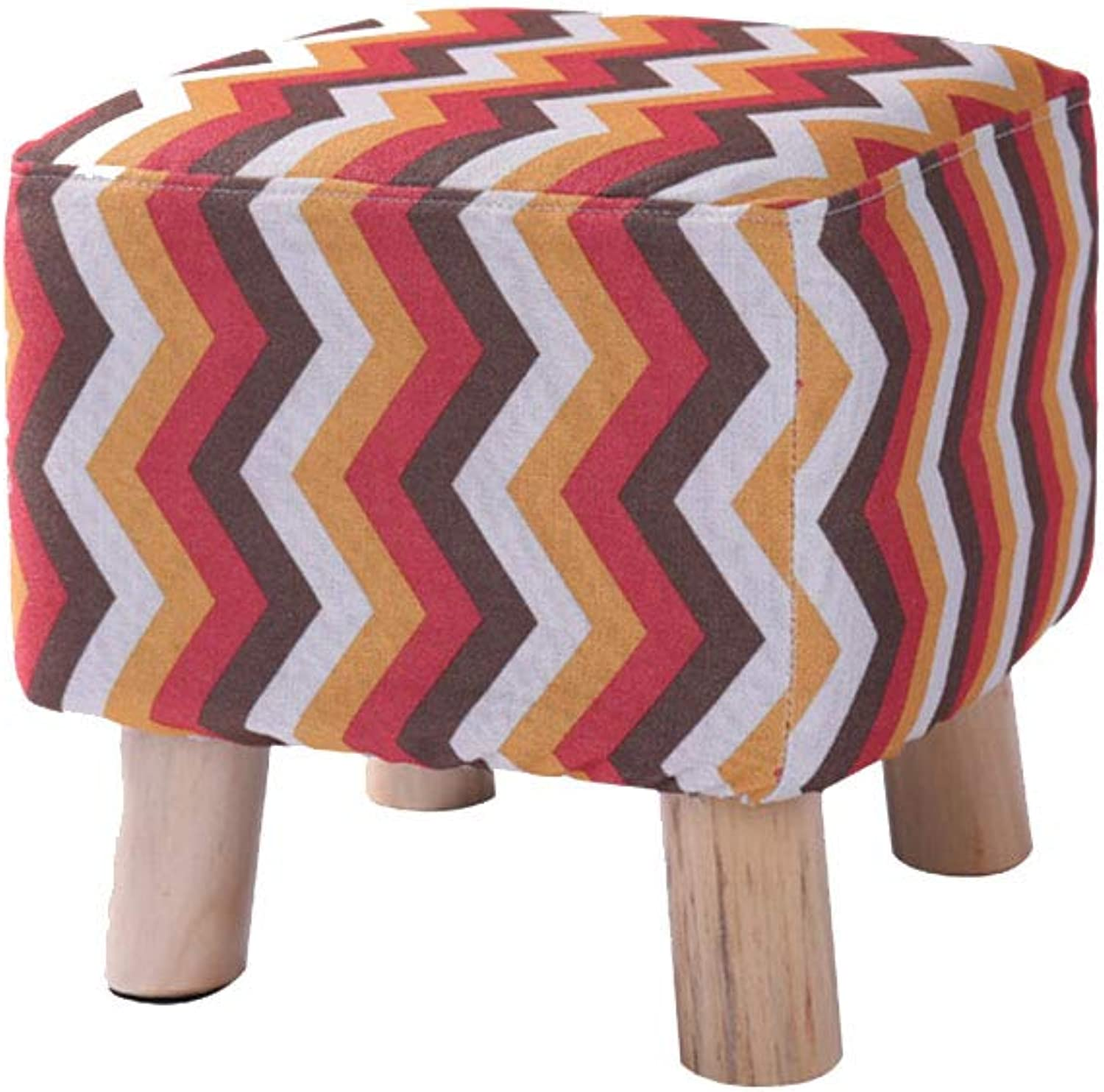 Stool Footstool shoes Bench Sofa Stool Change shoes Bench Wooden Stool Cloth Change shoes Sofa Home Fashion Solid Wood Multi-Function Stool ZHANGQIANG (color   Red Arrow Cloth, Size   Small)