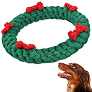 Gejoy Christmas Dog Chew Toys Pet Chewing Toys Puppy Teething Toys Cotton Chewing Ropes for Dog Puppy Supplies