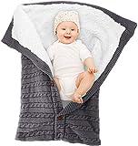 Manta para bebé recién nacido con terciopelo para cochecito de bebé, manta de...