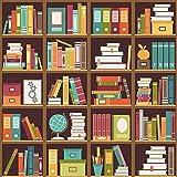 Estantería de Madera Antigua para Libros, Sala de Estudio de Vidrio, Fondos fotográficos Interiores para fotografía para Estudio fotográfico A5 10x10ft / 3x3m
