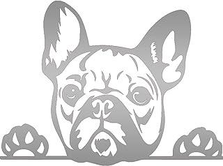 NBFU Aufkleber, Motiv: Französische Bulldogge, Pfotenabdrücke, niedliche Zunge 22'' x 16'' NBFU DECALS