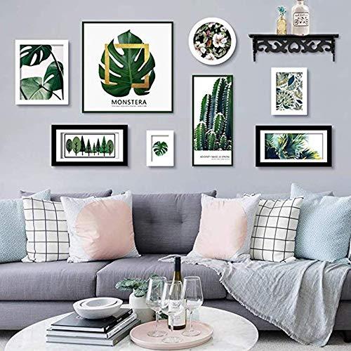 MMMMM Fotobehang Muur Creatieve Plant Schilderen Core Nordic Natuurlijke Stijl Hout Effen Woondecoratie