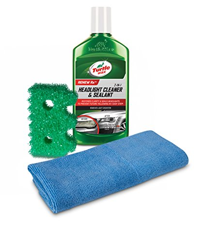 Turtle Wax 50736 Exclusive Headlight Cleaner & Scrub Daddy Restoration Kit , 9 fl. oz, 1 Pack