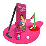 Pink Potty Putter for Women - Bathroom Golf Game, Golfing Gifts for Ladies, Full Set Toilet Golf