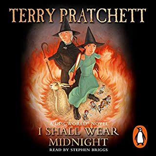 I Shall Wear Midnight                   By:                                                                                                                                 Terry Pratchett                               Narrated by:                                                                                                                                 Stephen Briggs                      Length: 9 hrs and 21 mins     94 ratings     Overall 4.9