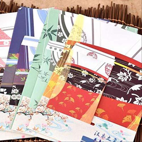 3 Sätze Von Traditionellen Antiken Stil Kreative Retro Hanfu Neue Papier Umschlag Set Chinesischen Alten Charme Briefkopf Schönen Briefkopf Mix