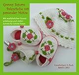 Granny Squares Babyschuhe mit Mütze und Schnullerkette