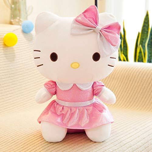 WYSTLDR Simpatico Cuscino Bambola Ciao Kitty, Peluche Bambola Gatto kt, Bambola Hello Kitty, Regalo di Compleanno, Regalo di San Valentino Rosa 60 cm