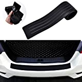 Goodream Rear Bumper Protector Guard Universal Black Rubber Scratch-Resistant Trunk Door Sill Protector Exterior Accessories Trim Cover for SUV/Cars,Easy D.I.Y (35.8Inch)