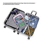 Mountaintop Kulturbeutel Kosmetiktasche Kulturtasche zum Aufhängen Toiletry Bag Waschtasche für Reise Urlaub, 24 x 9 x 19 cm (B – Pale Pink (L)) - 8
