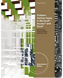 [Problem Solving Cases in Microsoft (R) Access and Excel (R), International Edition] [Author: Cook] [March, 2011]