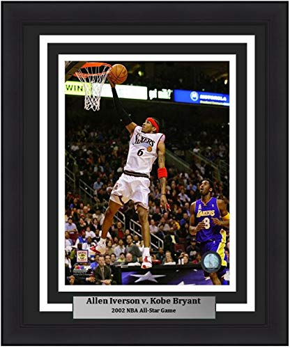 Allen Iverson and Kobe Bryant Los Angeles Lakers NBA 16x20 Photograph