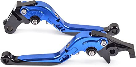 ZX10R 2004-2005 ZX6R // ZX636R // ZX6RR 2000-2004 ZX9R 2000 2001 2002 2003 Tencasi Blue CNC 3D Long Adjustable Brake Clutch Lever for Kawasaki ZZR600 2005-2009