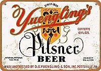 Yuengling's Pilsner メタルポスター壁画ショップ看板ショップ看板表示板金属板ブリキ看板情報防水装飾レストラン日本食料品店カフェ旅行用品誕生日新年クリスマスパーティーギフト
