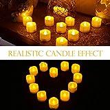 Led Teelicht Led Kerze, Adoric 12 x Led flammenlose Kerzen led Teelicht mit Timer elektrische flackernde batteriebetriebene Kerzen für Halloween Weihnachtsdeko Party Hochzeit, warm weiß - 2